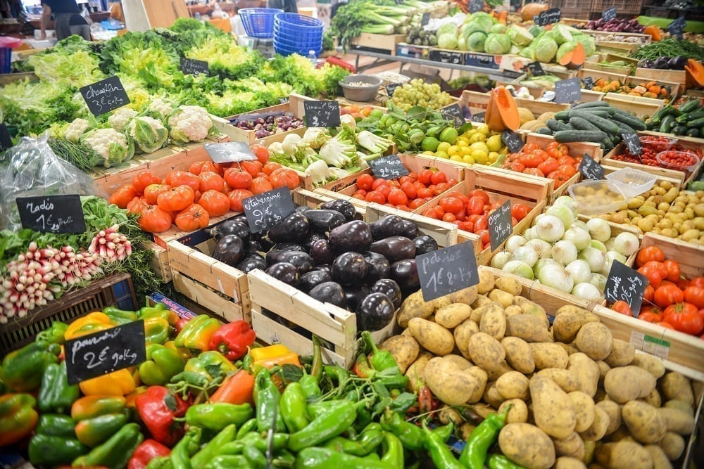 Locally source fruit and vegetables
