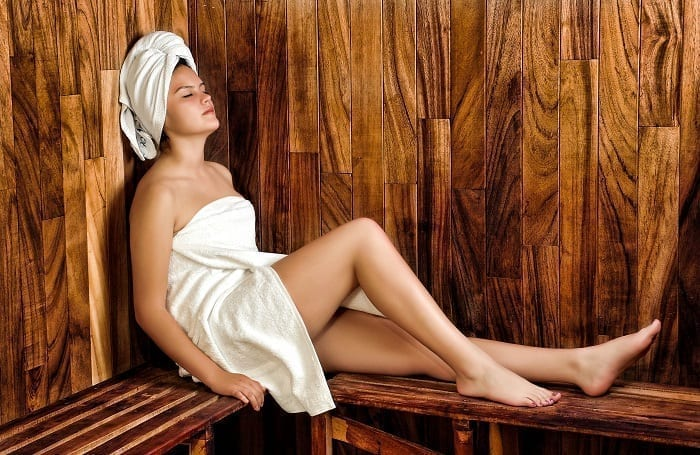 Sauna to reduce stress